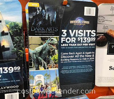 Costco 2019615 - Universal Studios Hollywood 3 Visit Ticket: great for both movie and theme park enthusiasts