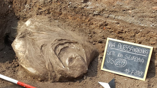 Marble torso found in Roman Forum dig