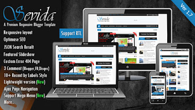 Free Download Sevida v1.7 Responsive Magazine Blogger Template