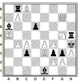 Problema de mate en 2 compuesto por Hilding Froberg (Tidskrift för Schack 1983)