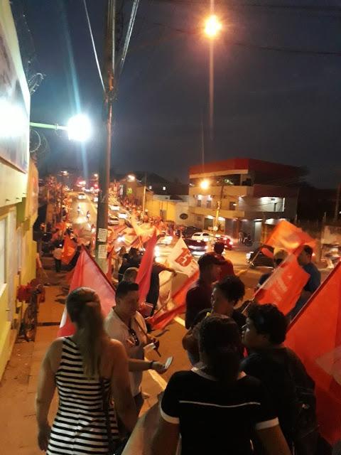 Sob ameaças, comissionados do PT vão às ruas da capital após pesquisa que dá vitoria folgada a Gladson Cameli