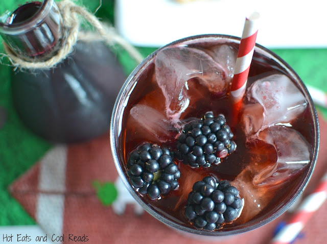 A fun and fruity DIY syrup to make your own Blackberry Coca-Cola at home! Perfect for any celebration, sports game or even movie night! Blackberry Coca-Cola Recipe from Hot Eats and Cool Reads