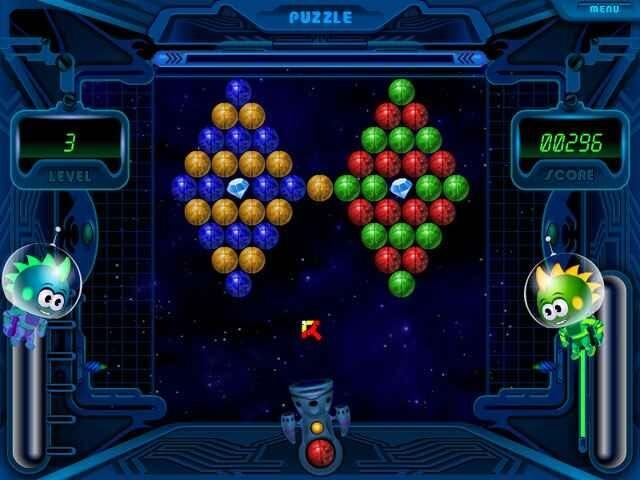 لعبة فقاعات الفضاء