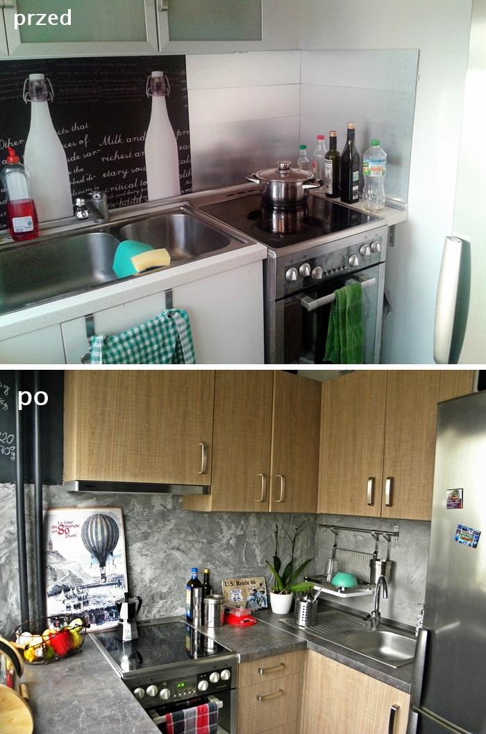 kuchnia przed i po industrial, loft | lvlupstudio