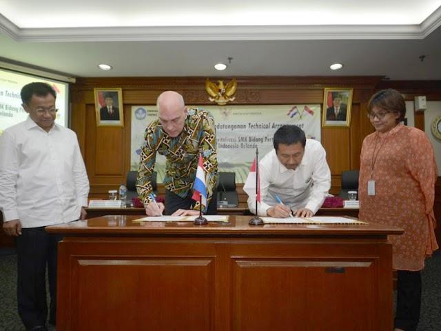 Kembangkan SMK Pertanian, Indonesia Jalin Kerjasama dengan Belanda