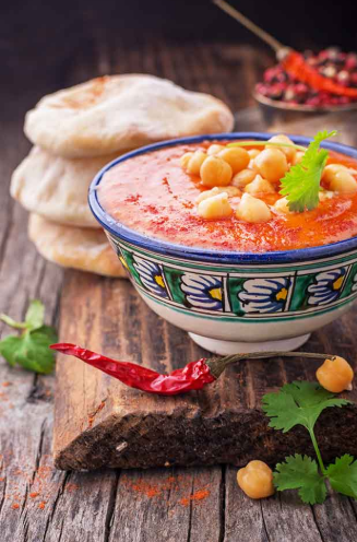 Spicy and Yummy Soup with Chickpeas