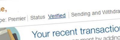 Perbedaan Status Akun Paypal Verified dan Unverified