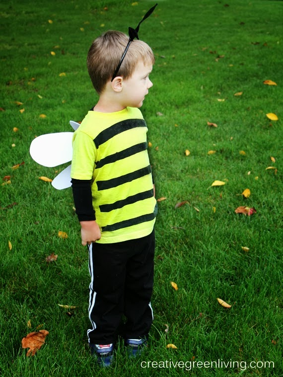 How to make a no sew bee costume for Halloween or for a bee birthday party