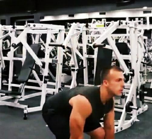 Dumbbell dead-lift exercise