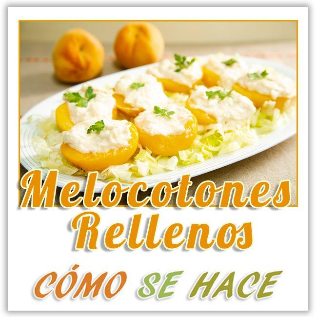 MELOCOTONES RELLENOS DE ATÚN.