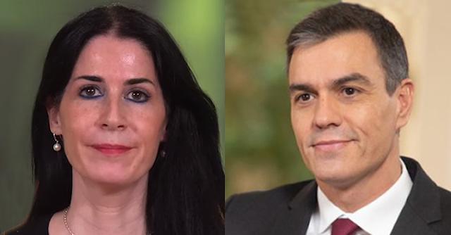 Carla Toscano y Pedro Sánchez