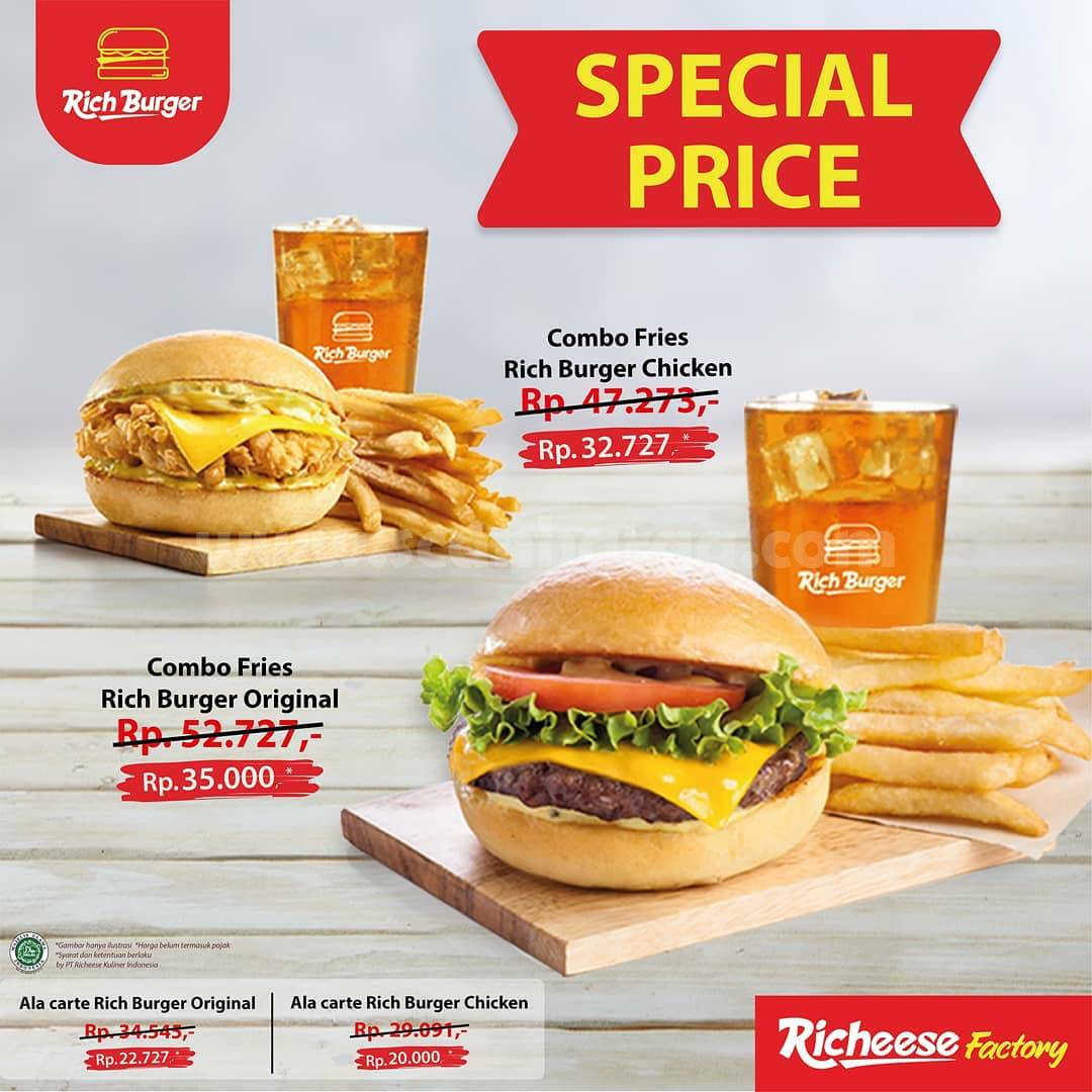 Promo Richeese Factory Terbaru – SPECIAL PRICE RICH BURGER!