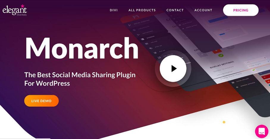 plugin Monarch by elegant themes