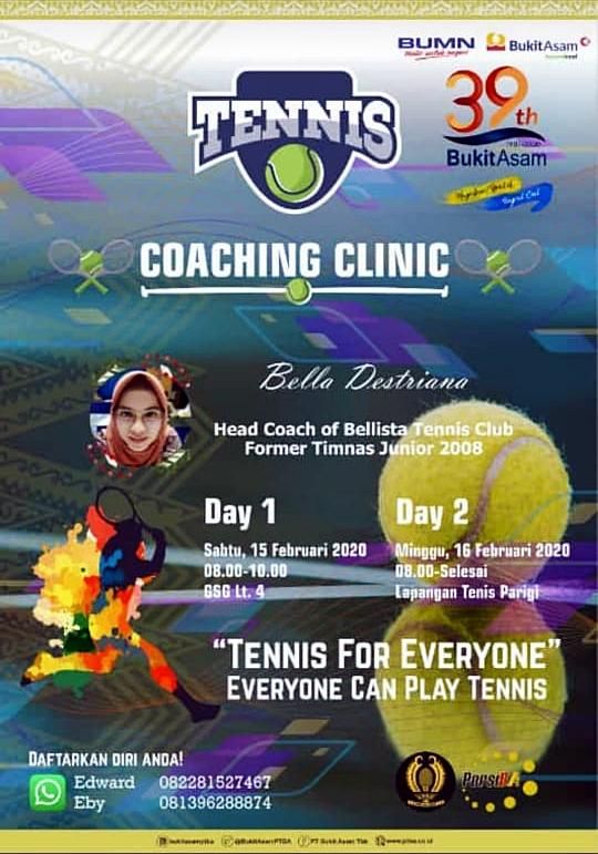TENNIS COACHING CLINIC - TENNIS FOR EVERYONE EVERYONE CAN PLAY TENNIS