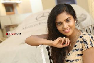 Telugu Actress Karunya Chowdary Stills in Short Dress at ATM Not Working Press Meet  0312.jpg