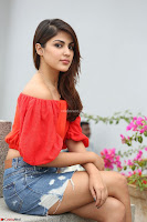 Rhea Chakraborty in Red Crop Top and Denim Shorts Spicy Pics ~  Exclusive 334.JPG