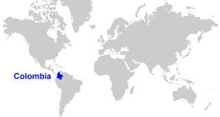 Gambar Peta letak Kolombia
