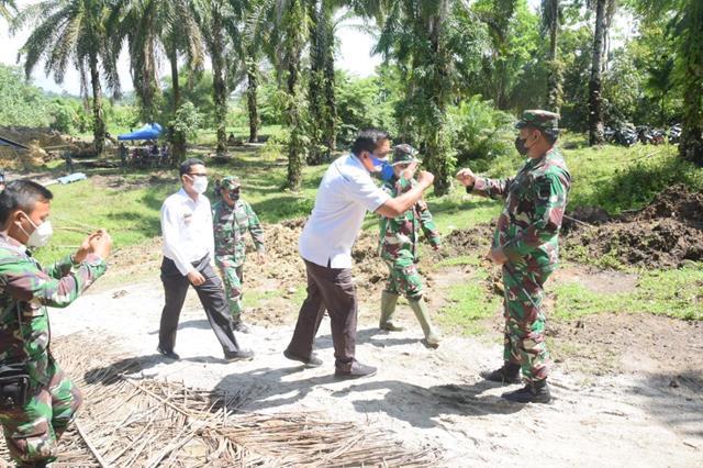 Pelaksanaan Pra TMMD Ke-112 Kodim 0207/Simalungun Ditinjau Langsung Oleh Dandim