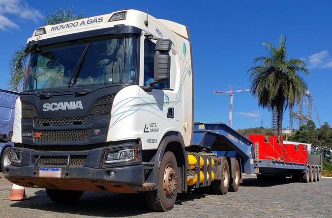 Transpes inicia testes com Scania G 410 6x4 XT movido a gás