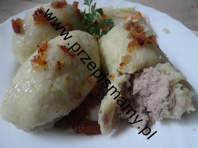 Kartacze z mięsem gotowanym