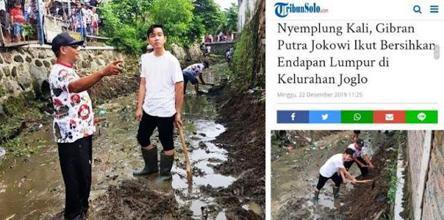 Gibran Nyemplung Bersihin Kali, Netizen : Tanda Pilkada Sudah Dekat