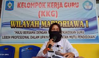 KKG Wilayah 1 Marioriawa, Plt Koord. UPTD Singgung Bahaya Narkoba Terhadap Anak Didik dan Tatap Muka di Bulan Ramadhan