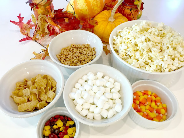 Ingredients to make a Fall Treat Mix
