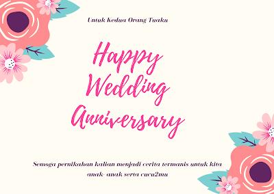 ucapan anniversary pernikahan untuk orang tua