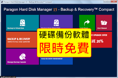 Paragon Hard Disk Manager 15 Backup & Recovery Compact