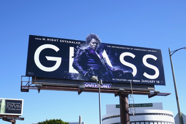 Samuel L Jackson Glass extension cut-out billboard