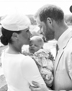 Meghan and Harry and Adorable Archie christening photo 2