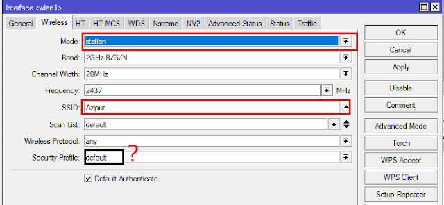 setting interface <wlan1>