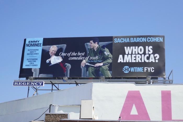 Who Is America 2019 Emmy nominee billboard