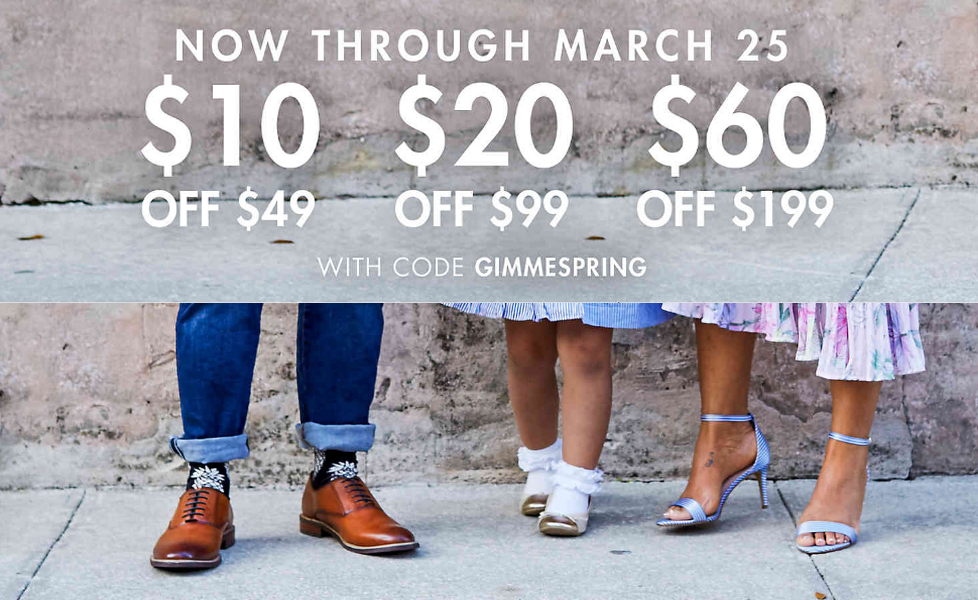 Take up to 30% off your DSW Spring 2018 purchase :: Effortlessly with Roxy