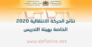 نتائج الحركة الانتقالية التعليمية برسم 2020