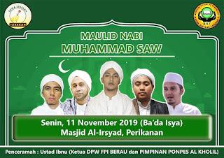 Hadirilah dan Syiarkanlah Maulid Arbain 40 Malam Keliling Kota Tarakan 2019 - Kajian Islam Tarakan