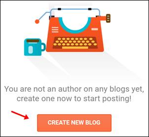 create new blog par click kare