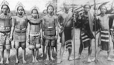 Gambar Pakaian Suku Dayak Tempo Dulu