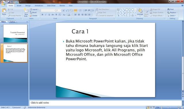 Cara Membuat Slide Presentasi Powerpoint Yang Baik dan Menarik