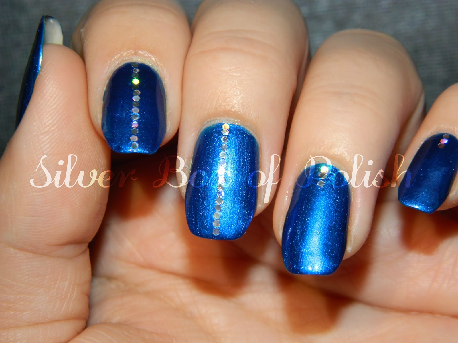 Silver Box of Polish: 31DC2016 Day 5 - Blue Nails