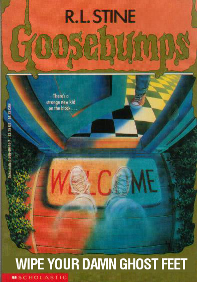 Literal GOOSEBUMPS Covers  Warped Factor  Words in the