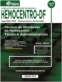 Apostila Concurso Hemocentro de Brasília - Analista e Técnico (FHB) 2016/2017