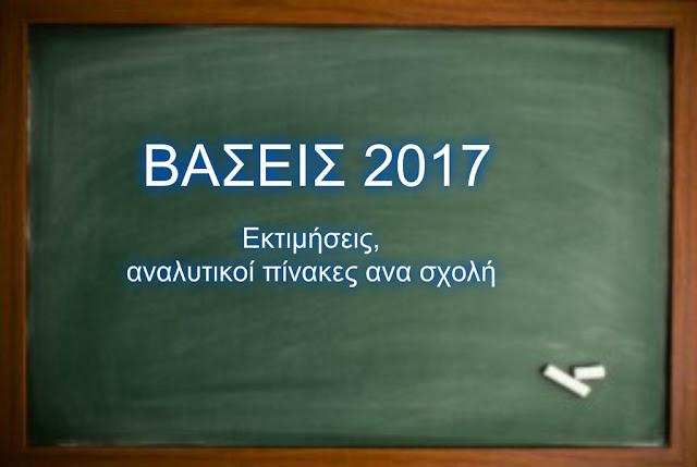 ΕΚΤΙΜΗΣΕΙΣ ΒΑΣΕΩΝ 2017