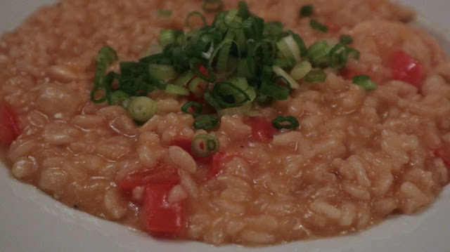 creamy risotto with octopus - octopus three ways for Sabor Seafood Festival