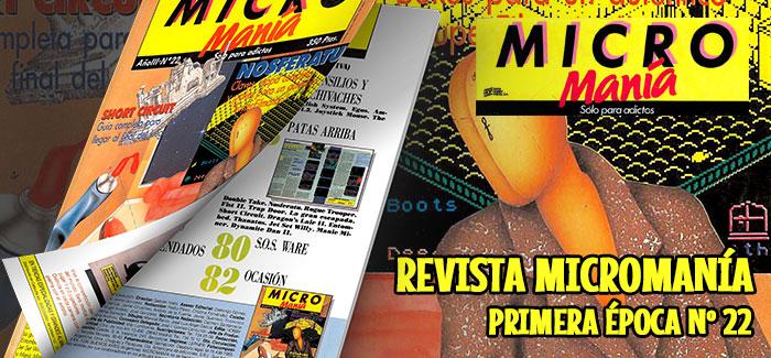Revista Micromanía Primera época Nº 22 (1987)