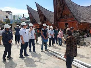 Bupati Bersama Wakil Bupati Samosir Monitoring Proyek Penataan Kampung Ulos Huta Raja dan Huta Siallagan