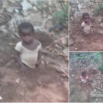 Parents Bury Their Child's Legs In The Ground In Benue State. See Why. (Photos)