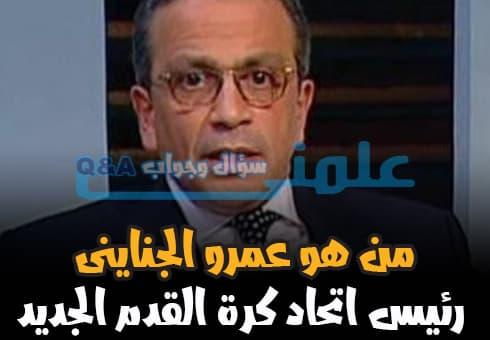 عمرو الجناينى رئيس اللجنة المؤقتة لاتحاد كرة القدم المصرى