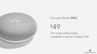 Price of Google Home Mini
