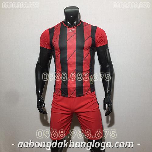 Áo bóng đá ko logo CP HuB màu đỏ